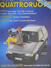 Quattroruote 408 1989  Ecco la VW Golf 1600.Top car:Lotus Esprit rivale Ferrari