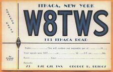 Lot of 4 - c1940s Amateur Radio QSL cards - George Briggs 113 Ithaca Rd NY W8TWS
