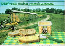 PUBLICITE ADVERTISING 1982   EPI D'OR  margarine comme à la campagne (2 pages)