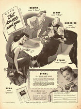 1943 vintage Ad, Ethyl Gasoline, 'What does Your Name Mean?'  -102713