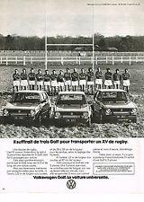 PUBLICITE  1977   VOLKSWAGEN   trois GOLF