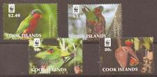 COOK ISLANDS 2010 WWF BIRDS MNH