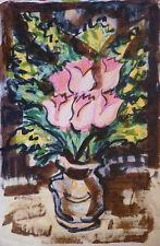 Charles KIFFER (1902-1992) Aquarelle Fleurs / Fauviste fauvist Années 30 / 40
