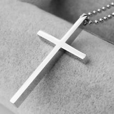 Mens Cross Pendant Necklace Stainless Steel Chain High Quality Jewelry for Gift