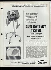 Super Rare Orig Vintage Sun Electric SBT-421 Battery Tester Dealer Sheet Page