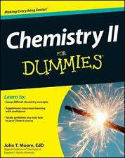 Chemistry II for Dummies by John T. Moore (2012, Paperback)