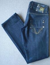 River Island Women's Low Indigo, Dark wash Straight Leg Jeans