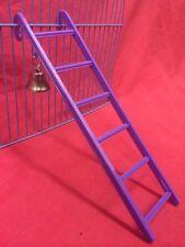"Hamster Ladder Bell Plastic 9"" PURPLE 6 Steps Interactive Cage Boredom Exerciser"