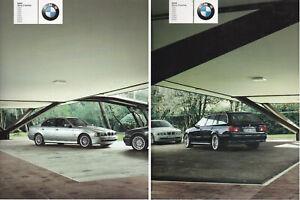 brochure LOT de 2 BMW Série 5 Berline & Touring !!! 2002 _________ en français _