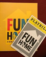 Fun Home Broadway Program and Playbill 2015 Michael Cerveris Beth Malone