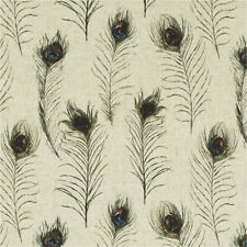 Clarke and Clarke - Studio G - Peacock Feathers Linen - Pretty Curtain Fabric