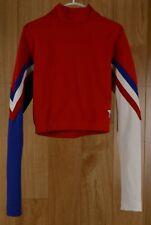 Varsity Spirit Fashions Red White & Blue Cheerleader Girls Long Sleeve Shirt M