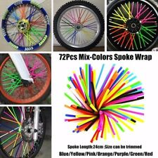 72pc Wheel Spoke Skin Cover Wrap Kit 4 Motorcycle Motocross Dirt Bike MIX COLOR