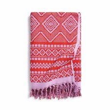 VERA BRADLEY LARGE TASSEL BEACH TOWEL AZTEC RED - NICE - MSRP $58.00 - NWT