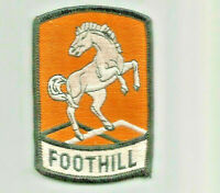 Foothill horse advertising patch 3-3/8 X 2-1/4 #8013