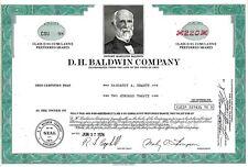 D. H. Baldwin Company, Delaware, 1974 (220 Shares Class D 8% Pref.)  Nr. 98 !!