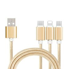 Universal 3 In1 Multi USB PHONES Charger Charging Sync Data Cable for iPhone HTC