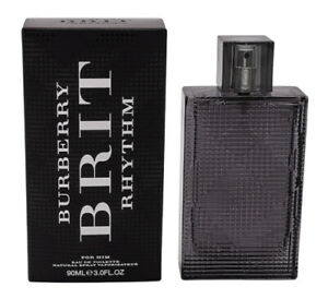 Burberry Brit Rhythm by Burberry 3.0 oz Cologne for Men New In Box & Sealed