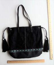 Women's Union Bay BLACK w/ MINT Green Purse Hand Bag LARGE Tote - FLASH SALE