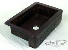 "36"" Ariellina Farmhouse 14 Gauge Copper Kitchen Sink Lifetime Warranty AC1912"