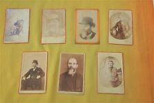 Victorian CDVs John & T D Evans Dundee Born 1800