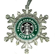 Dumb Starbucks Coffee Snowflake Colored Light Holiday Christmas Tree Ornament