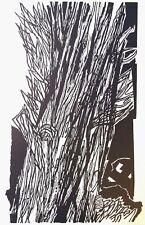 "HANS ORLOWSKI ltd ed mounted original woodcut, tree, 1961, 14 x 11"" DP001"