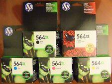 5-Pack HP Genuine 564XL Black, Color & Photo Ink PhotoSmart 6520 7525 - Exp 2018