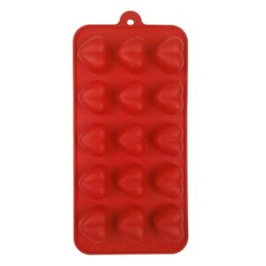 Dexam Chocolate Silicone Red Mould Flower/Heart/Round/Star/Yuletide