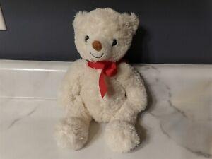 "Adorable 11"" Retired 2012 Lil Sweetheart Cream White Plush BEAR w/ Ribbon (*68)"