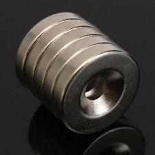 5 Stück Set Starke Magnete N52 Neodym Permanentmagnet 15mm x 3mm mit 4mm Loch