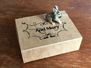 Porcelain Sitting Hare Pendant & Sterling Silver Chain - And Mary - New & Boxed