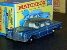 Matchbox Lesney Mercedes Benz 300 SE Coupé 46 c2 met blue SC3 VNM & crafted box