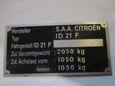 Placa IDENTIFICADORA CITROEN PANEL ABOLLADURAS id-plate id21f 21 F S37 NEU