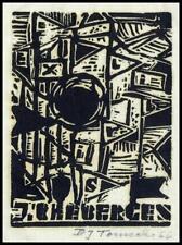 Tomecki Bronislaw 1966 Exlibris X3 Bookplate 180
