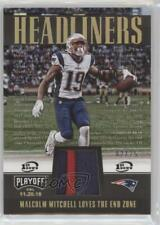 2017 Panini Playoff Headliners 1st Down Prime /25 Malcolm Mitchell #HL-19