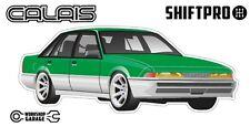 VL Calais Holden Commodore Sticker - Green with Enkei Rims - ShiftPro Brand