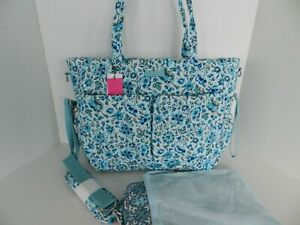 NWT Vera Bradley Iconic Ultimate Baby Bag Diaper with Changing Pad in Cloud Vine