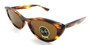 Ray-Ban Sunglasses RB 4314N 954/33 54-18-140 Nina Striped Brown / Brown Italy