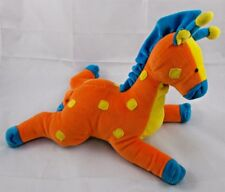 "Dakin Jungle Jody Giraffe Rattle Plush Orange 11"" Long Applause Stuffed Animal"