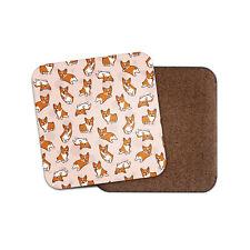 Cute Cartoon Corgis Coaster - Corgi Dog Puppy Funny Animals Pets Mum Gift #15890