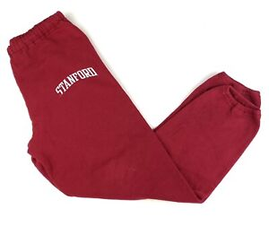 Vintage 90s Russell Athletic Stanford Cardinals Logo Red Sweatpants Sz Medium