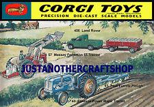 Corgi Toys 57 61 406 Tractor Farm Large Size Poster Advert Leaflet Display Sign