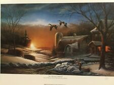 Terry Redlin THE SHARING SEASON II Signed Open Edition Print