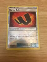 KARATE BELT -- REVERSE HOLO MINT/NM -- POKEMON TCG UNIFIED MINDS 201/236