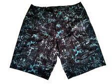 Lululemon Mens Current State Board Short Size 32 Swim Black Green GVNL $98 NWT