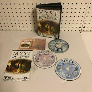 Myst IV Revelation PC MAC DVD-ROM Rare Includes ALL 3 Discs UBISOFT 2004