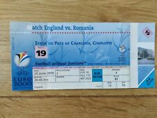 Euro 2000 Ticket England v Romania