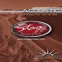 Stagg Phosphor Bronze Acoustic Guitar String Set - Medium