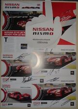 Le Mans 2015 WEC Nissan Motorsports GTR LM Nismo Memorabilia Set Autograph cards